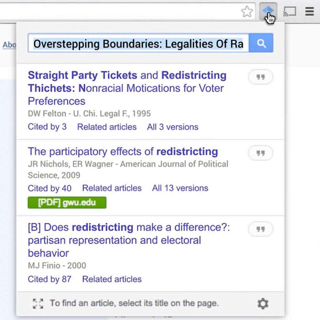 Google Akademik eklentileri