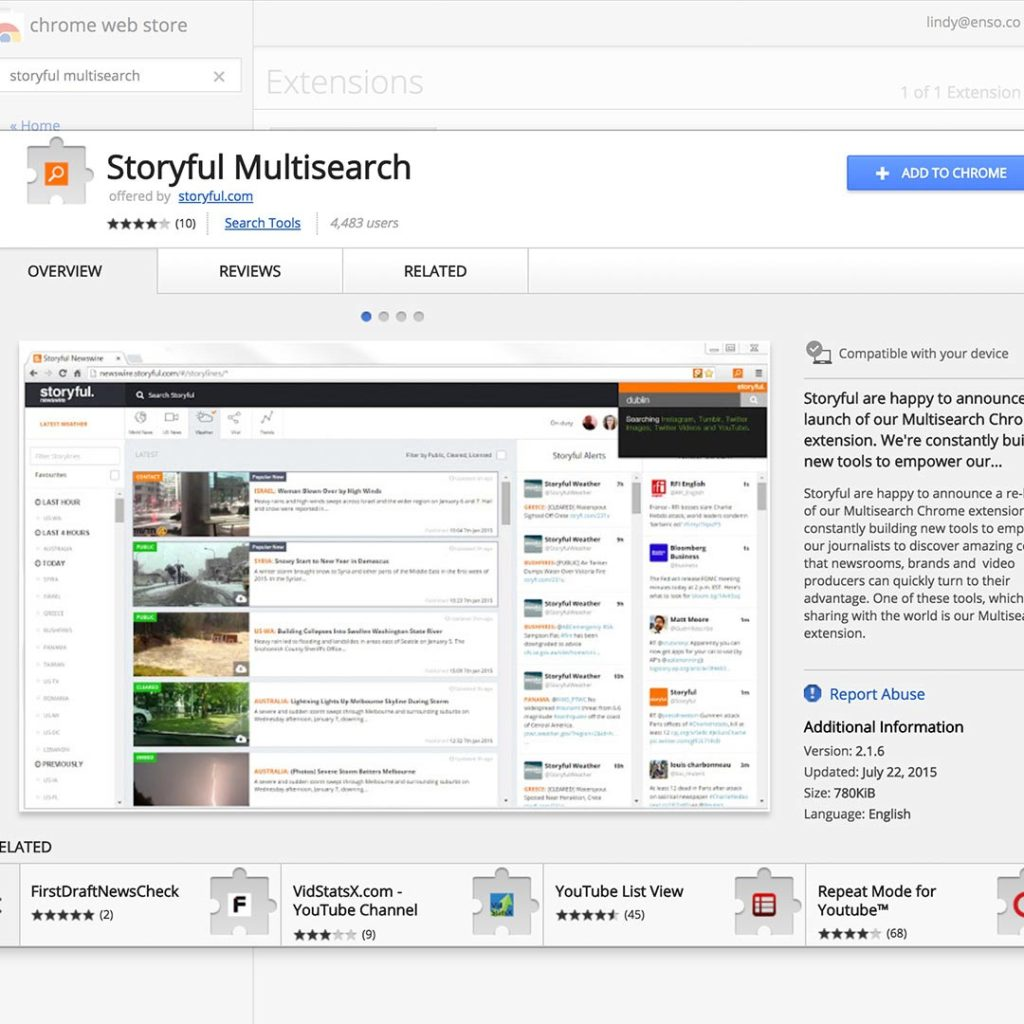 Storyful Multisearch iş başında