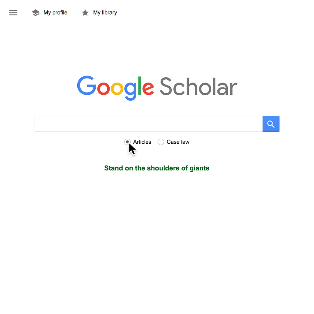 Google Scholar: Access court cases, academic papers and sources