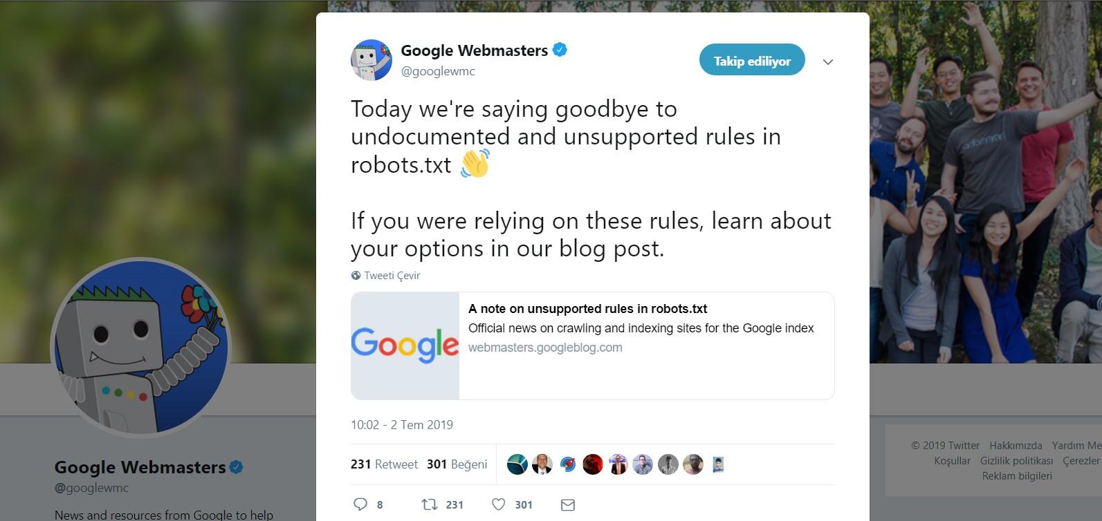 Google Robots.txt Dosyasındaki Noindex Komutlarını Dikkate Almayacak