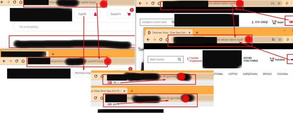 e-ticaret yazılımı url yapısı