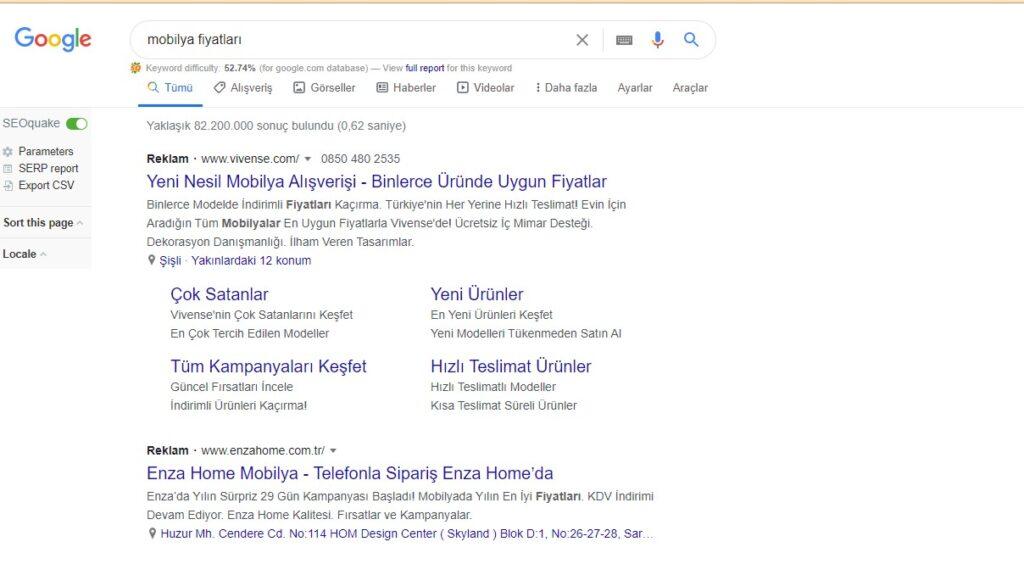 sem- search engine marketing google serp