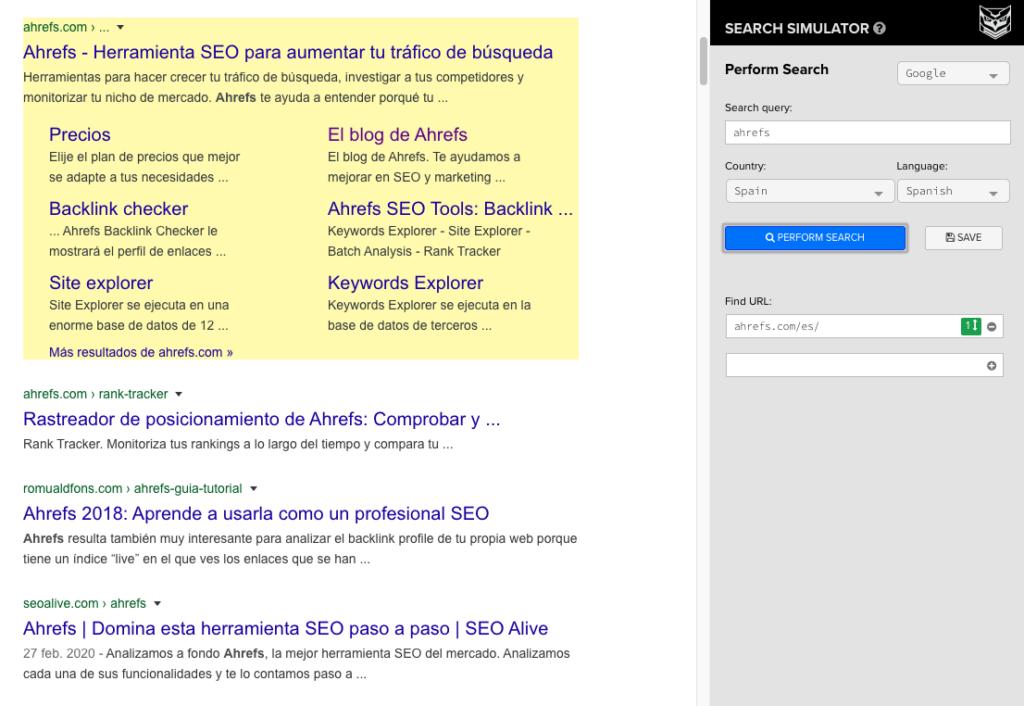 seo search simulator