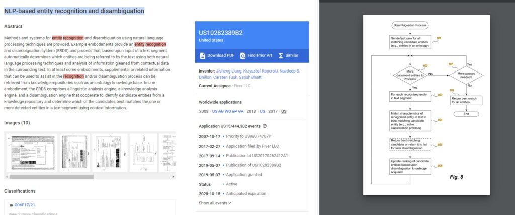 NLP-based entity recognition and disambiguation