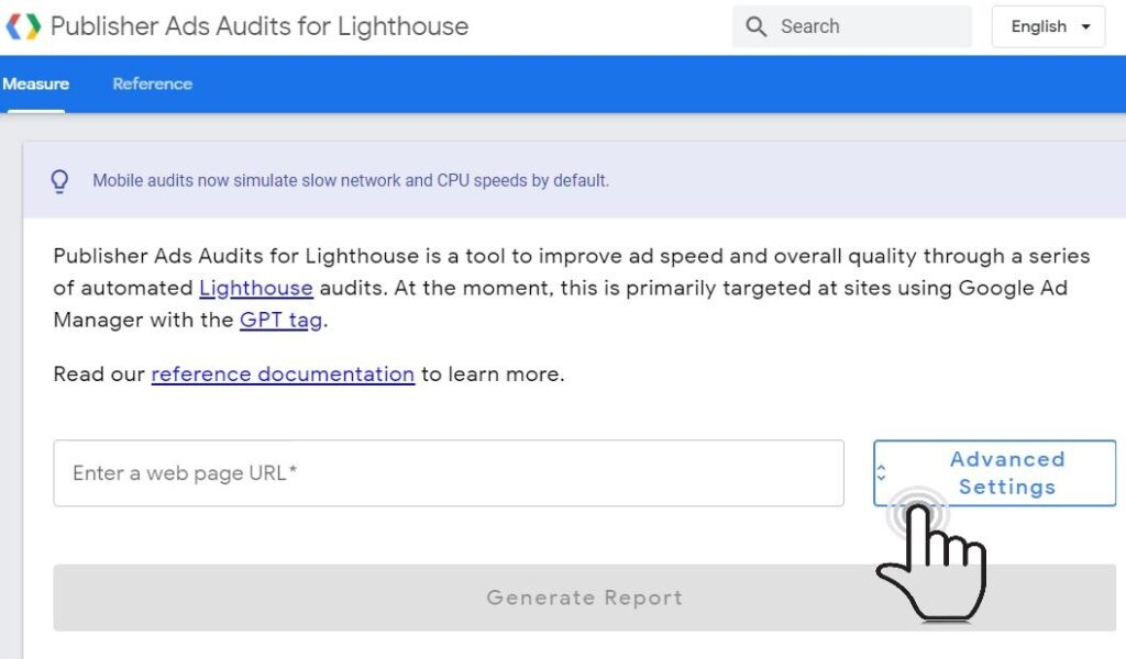 Publisher Ads Audits for Lighthouse