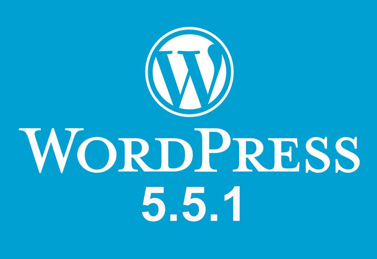 WordPress 5.5.1