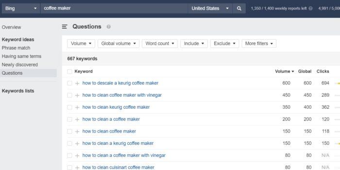 Ahrefs Bing – Cómo utilizar el informe de descripción general